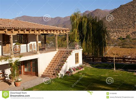 Spanish Colonial House Plans by Historic Hacienda Stock Photo Image Of Historic Chile