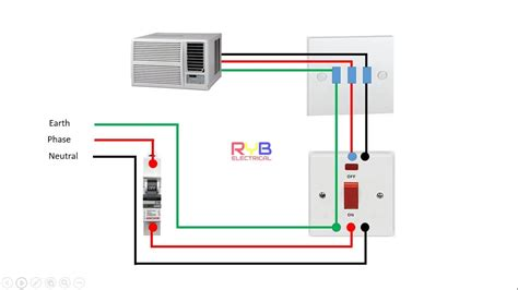 window ac wiring connection diagram ryb electrical youtube