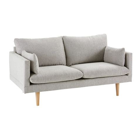 2 Seater Grey Sofa by Light Grey 2 Seater Sofa Collins Maisons Du Monde