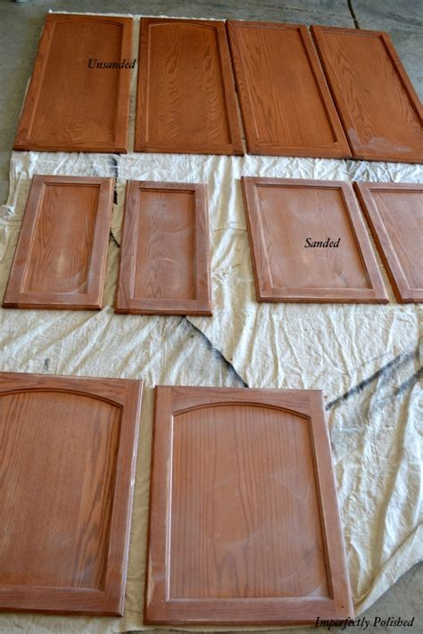 How To Repaint Cabinet Doors Sanding Doors