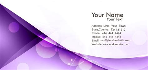 business card backgrounds purple
