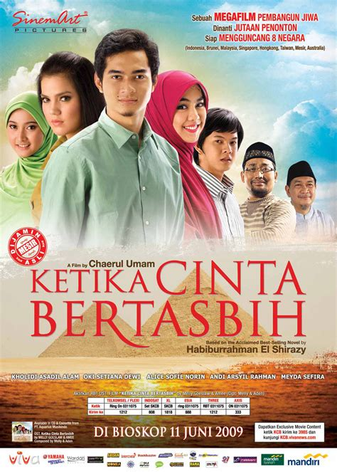 poster film romantis indonesia ketika cinta bertasbih film wikipedia bahasa indonesia
