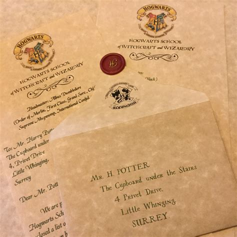 Harry Potter Acceptance Letter Canada Personalized Hogwarts Acceptance Letter By Merrymailbox On Etsy