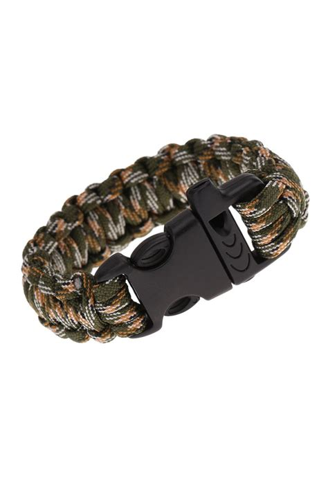 Paracord Parachute Cord Emergency Kit Survival Bracelet Rope with Whistle Buckle