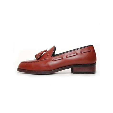 loafer shoes with laces s leather side lace low heel tassel loafer shoes