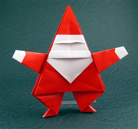 Origami Santa Claus - easy origami by montroll book review