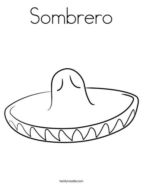 Sombrero Coloring Page Twisty Noodle Sombrero Coloring Page