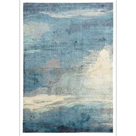 blue patterned rug calais abstract watercolour blue beige grey patterned rug rugs of