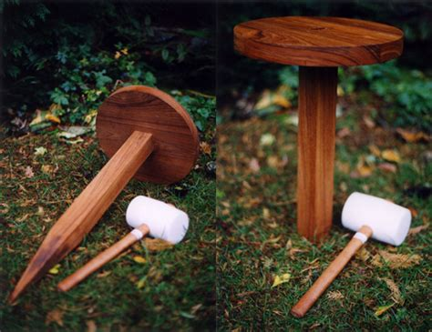 One Leg Garden Stool by Cool Idea Toadstool Popsugar Home