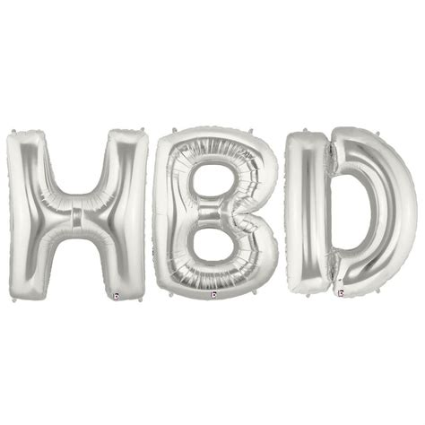 Foil Hbd jumbo silver foil balloons hbd partybell