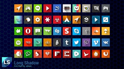 Long Shadow Icon Pack - Android Apps on Google Play