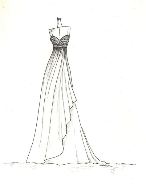 Sketches To Paint by Sketches Of Dresses Drawings Of Dresses Easy Best 25
