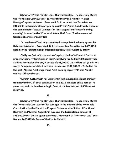 rico federal complaint defendant s antoine l freeman j d attor rico federal complaint defendant s antoine l freeman j d