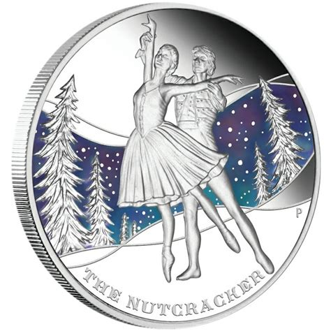 colored coins tuvalu ballets 5 five silver colored coins set