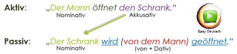 wandlen länglich das vorgangspassiv deutsche grammatik einfach erkl 228 rt
