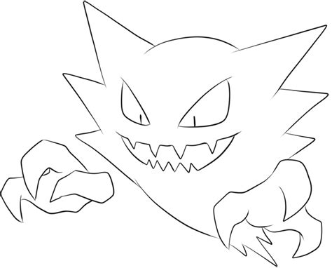 ghost haunter coloring page gastly coloring page of pokemon