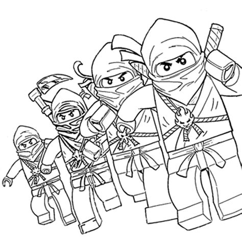 free coloring pages of lego ninjago ausmalen