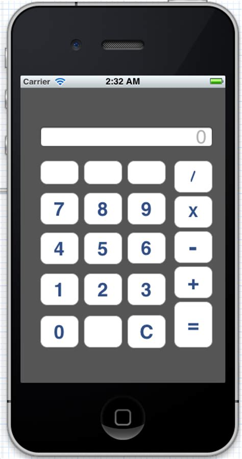 xcode calculator layout basic steps xcode basic calculator project