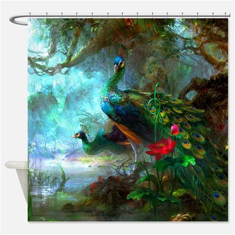 Peacock Shower by Peacock Shower Curtains Peacock Fabric Shower Curtain Liner