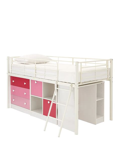 Single Bed Sleeper by Mezzo Mid Sleeper Single Bed With Desk And Storage Co Uk