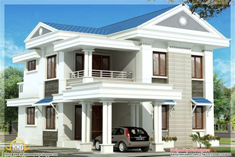 House Designing Blue Roof Home Design By R It Designers Kannur Kerala