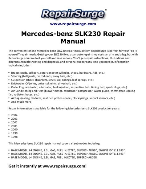 motor repair manual 1998 mercedes benz slk class regenerative braking mercedes slk 230 engine diagram two ineedmorespace co