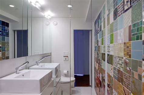 mirror tiles for bathroom walls 10 rooms with a mirrored wall
