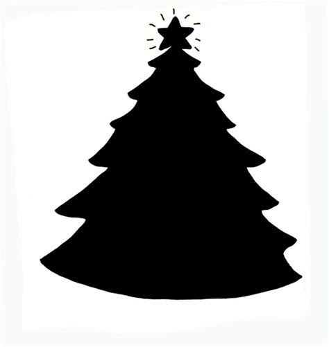 christmas tree silhouette clipart 17