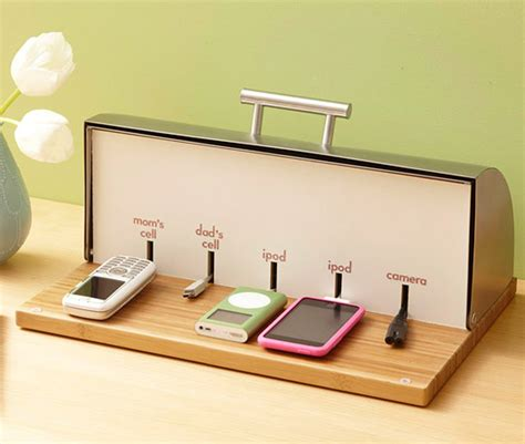 diy charging station diy bread box charging station better homes and gardens