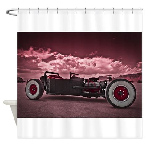 hot rod shower curtain hot rod at bonneville shower curtain by coolcartshirts