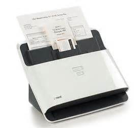 neat business card scanner organizing digital files well groomed home