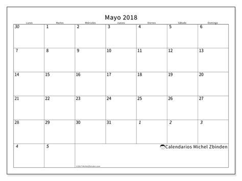 Calendario 2018 Mayo Calendario Para Imprimir Mayo 2018 Deodatus Espa 241 A