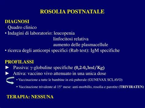 test rosolia ppt malattie esantematiche powerpoint presentation id