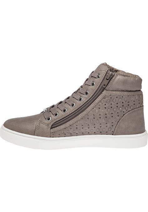 grey high top sneakers lyst steve madden eiris grey high top sneaker in gray
