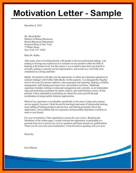 Resume Cover Letter Example by 9 Examples Of Motivation Letter For Job Application Lpn