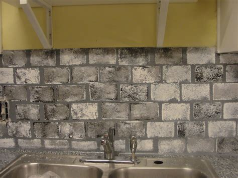 Faux Brick Backsplash In Kitchen by Diy Kitchen Updates On A Budget Faux Brick Kitchen