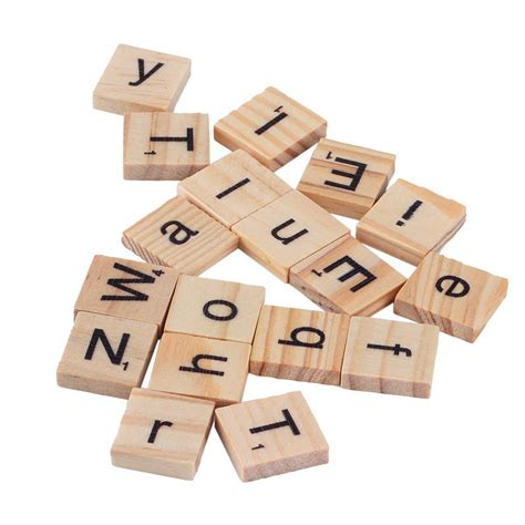 wooden scrabble letter tiles 100 wooden alphabet tiles black letters numbers for