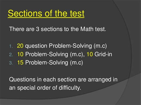 sat section 3 math answers test help for sat mathematics