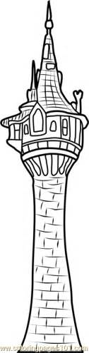Towers Coloring Page Rapunzel S Tower Coloring Page Free Tangled Coloring by Towers Coloring Page