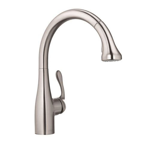 hansgrohe kitchen faucets hansgrohe allegro e single handle pull out sprayer kitchen faucet in steel optik 04066860 the