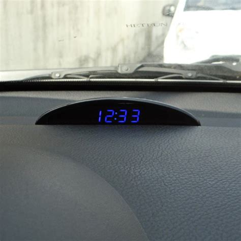 Voltmeter Led Luminous Universal dropship 3 in 1 function luminous led digital car electronic automobile clock 12v voltmeter