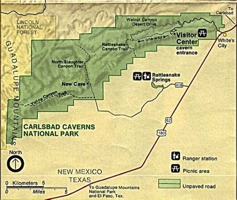 texas caverns map index of maps national parks