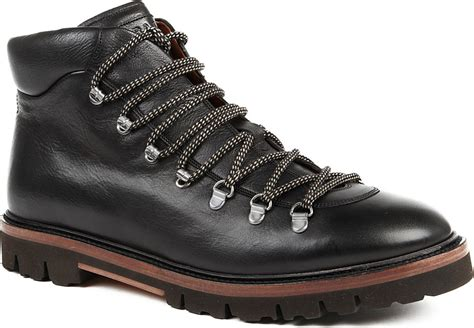 bally boots bally graf climbing boots in black for lyst