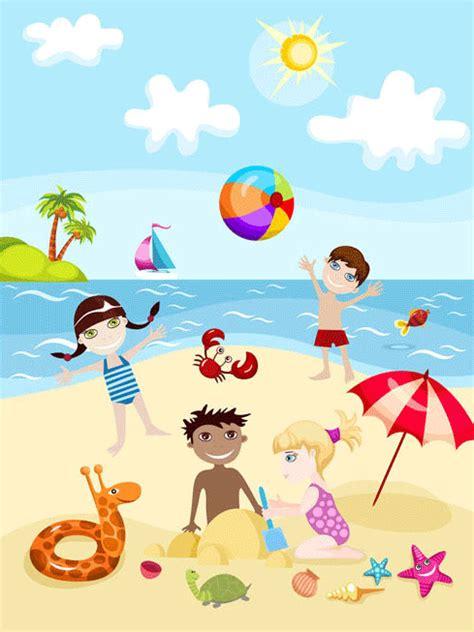 imagenes de vacaciones de verano para niños ni 241 os en verano para imprimir