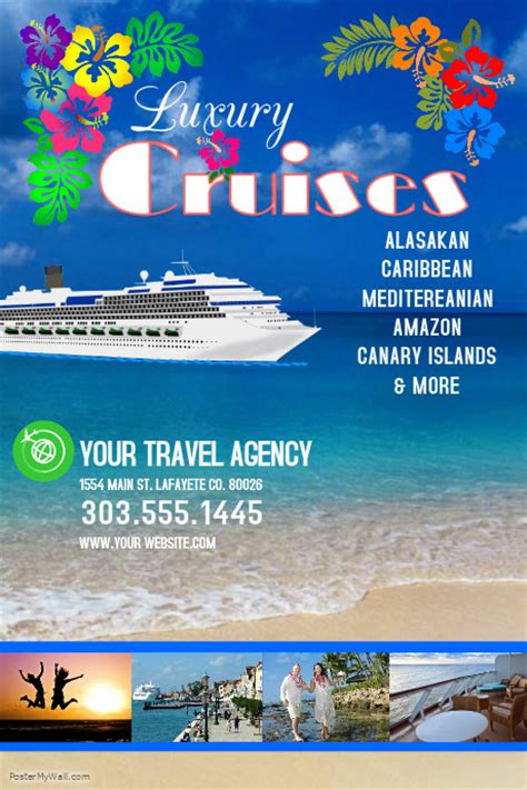 travel agency poster template cruises template postermywall