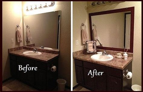 Diy Bathroom Mirror Ideas Frame A Bathroom Mirror With Molding Interior Design Ideas