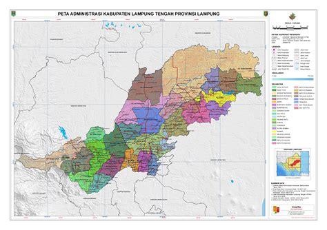 administrasi kabupaten lampung tengah peta tematik indonesia