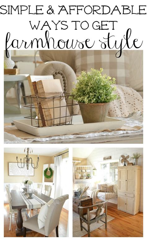 Affordable Kitchen Furniture how to get farmhouse style in your home