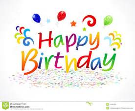 abstract happy birthday text stock vector image 31605250