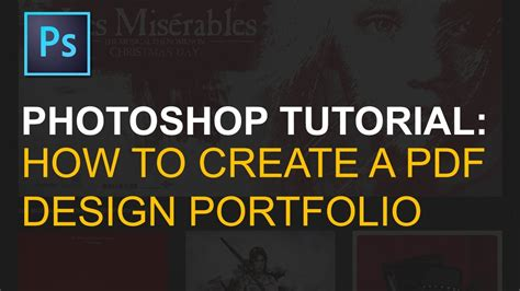 photoshop tutorials for pdf export multi page pdf portfolio in adobe photoshop youtube